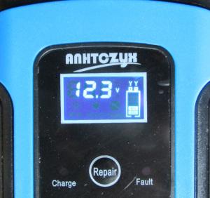 バッテリー電圧の表示