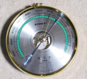 購入した気圧計