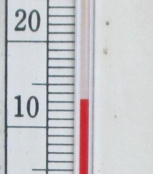 玄関先の午後の気温