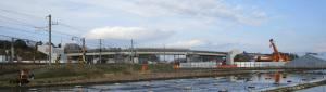 跨線橋の工事