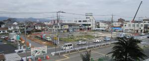 駅前の再開発工事