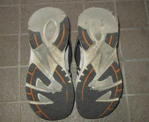 古い散歩靴