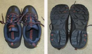 新しい散歩靴